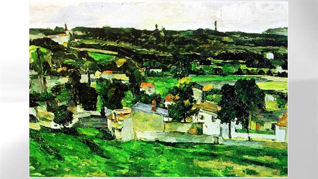 PHOTO: View of Auvers-sur-Oise by Paul Cezanne.