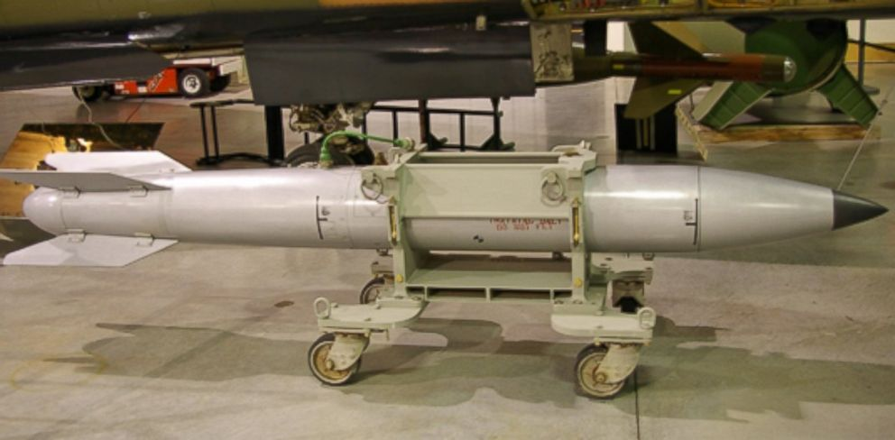 PHOTO: The B61 nuclear bomb is designed for carriage by aircraft at supersonic flight speeds and is the primary thermonuclear weapon in the U.S. stockpile since the end of the Cold War.