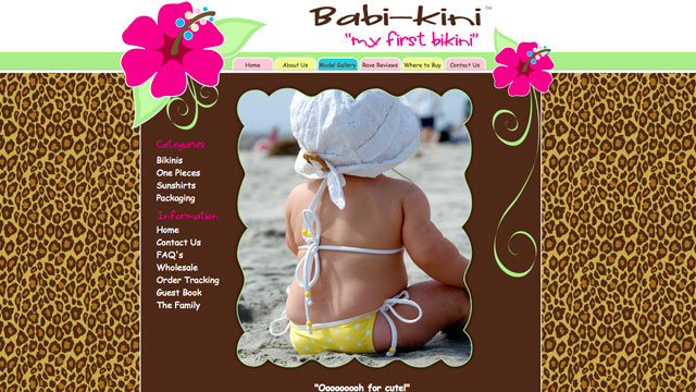 PHOTO:The website babikini.com is shown.