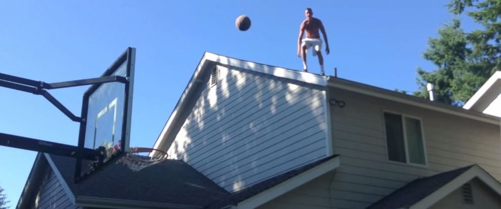 PHOTO: Three college students from Bellingham, Wash. have been blowing minds with their basketball trick shots.