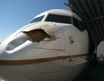 PHOTO: Airliner with damaged nose