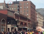 PHOTO: An image of a man walking on a roof is shown as a bomb exploded during the Boston Marathon, April 15, 2013.