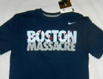 PHOTO: Nike has pulled a Boston Massacre Yankees/Red Sox rivalry t-shirt do to the recent Boston Marathon bombings.