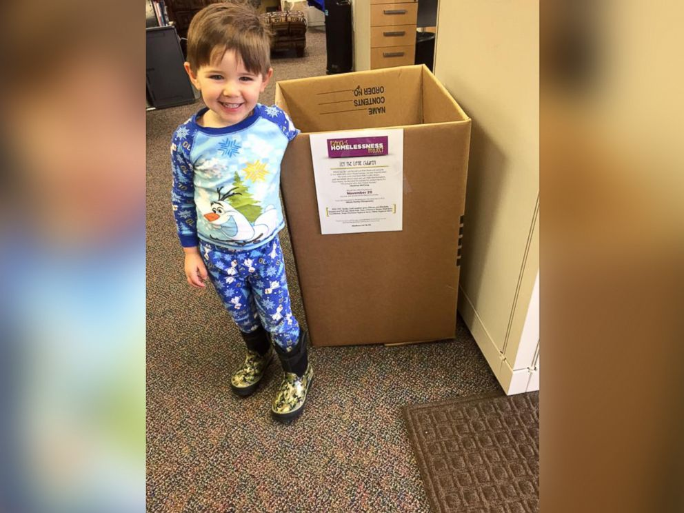 PHOTO: Patrick McClung, 3, started a donation project to help out homeless people in Anchorage, Alaska.