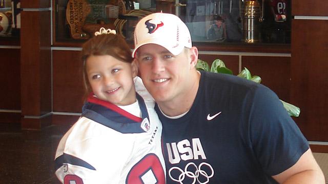 promo code 3273d c3a2d Texans' Lineman JJ Watt 'Marries' 6-Year-Old Fan for a Day ...