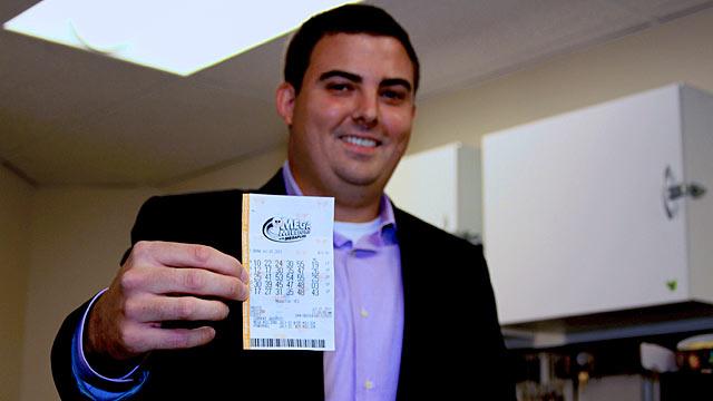 PHOTO:Brian McCarthy won $107 million in Mega Millions jackpot in Herndon, Virginia.