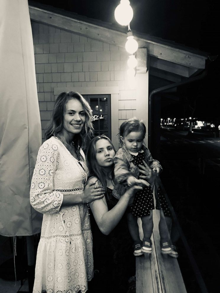 Cameron Douglas girlfriend, Viviane Thibes, is seen here (left) with Douglas adopted half-sister Imara (through his mother Diandra), pictured center, and Douglas daughter, Lua (right).