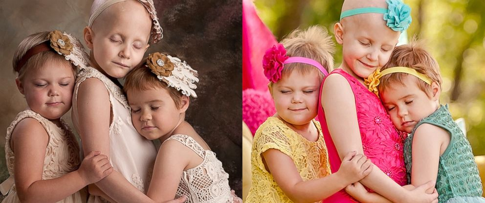 PHOTO: Three Oklahoma girls were photographed while battling cancer and again to celebrate their remission.