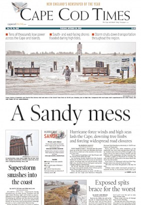 Today's Front Pages: Hurricane Sandy Photos - ABC News