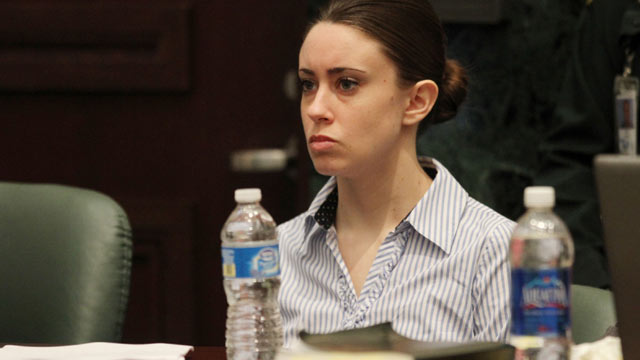 PHOTO: Casey Anthony at the defense table at the start of the final day of arguments in her murder trial at the Orange County Courthouse in Orlando, Fla., July 4, 2011.
