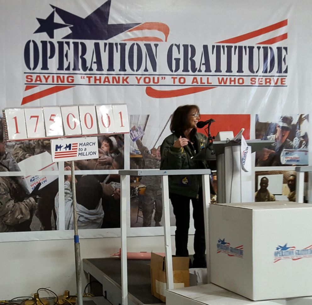 Carolyn Blashek got the idea for Operation Gratitude from when she used to send care packages to her kids while they were at camp.