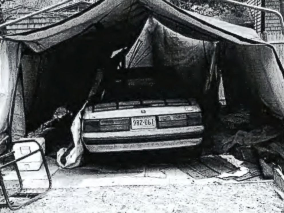 PHOTO: Investigators say they discovered veterans grave markers, used mostly as flooring for two makeshift garages and a shed at Kevin Maynards home in Charlestown, Rhode Island, on April 27, 2015.