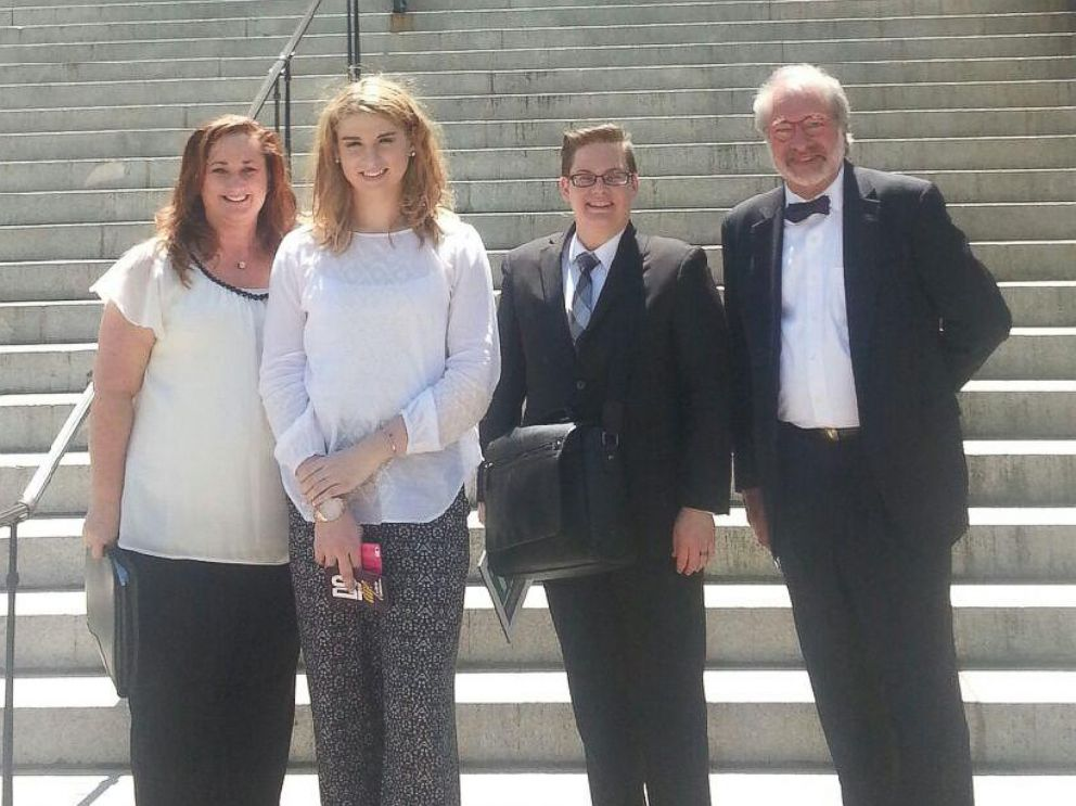 PHOTO: From left to right, Teresa Culpepper, Chase Culpepper, Ethan Rice, and Marshall Winn are pictured here in this photo outside the South Carolina state capitol.