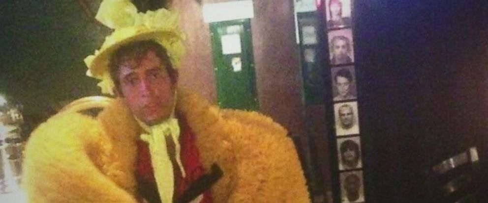 """PHOTO: The Kansas City Police posted this image to Twitter on June 27, 2014 with the caption, """"We arrested a guy who stole birdish costume then wore it to a bar. Just another Thurs in #KC."""""""