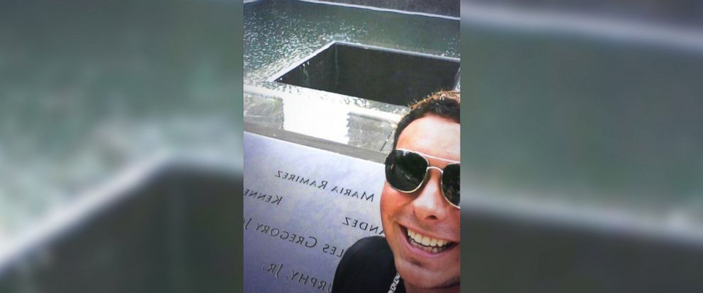 "PHOTO: Chris Canning posted this photo of himself at the National September 11 Memorial in New York City to his Twitter account on July 10, 2014 with the text, ""Selfie at 9\11 memorial! #NY #GroundZero."""