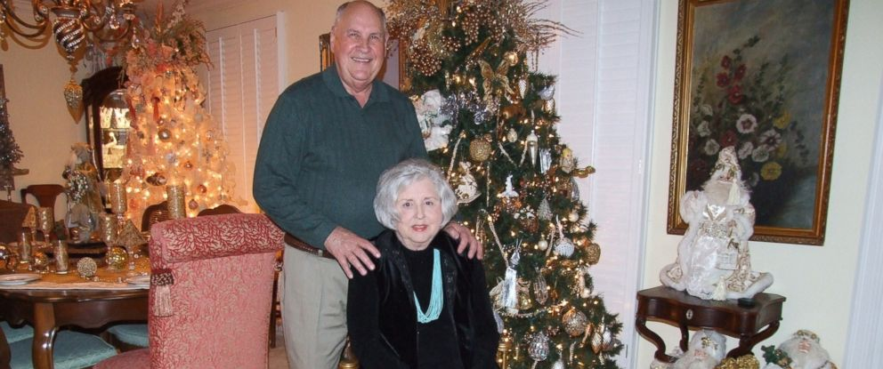 PHOTO: George 'Buddy' Witherow and his wife Gloria get into the festive spirit by decorating 50 different themed Christmas trees and placing them throughout their Symrna, Tenn. home.