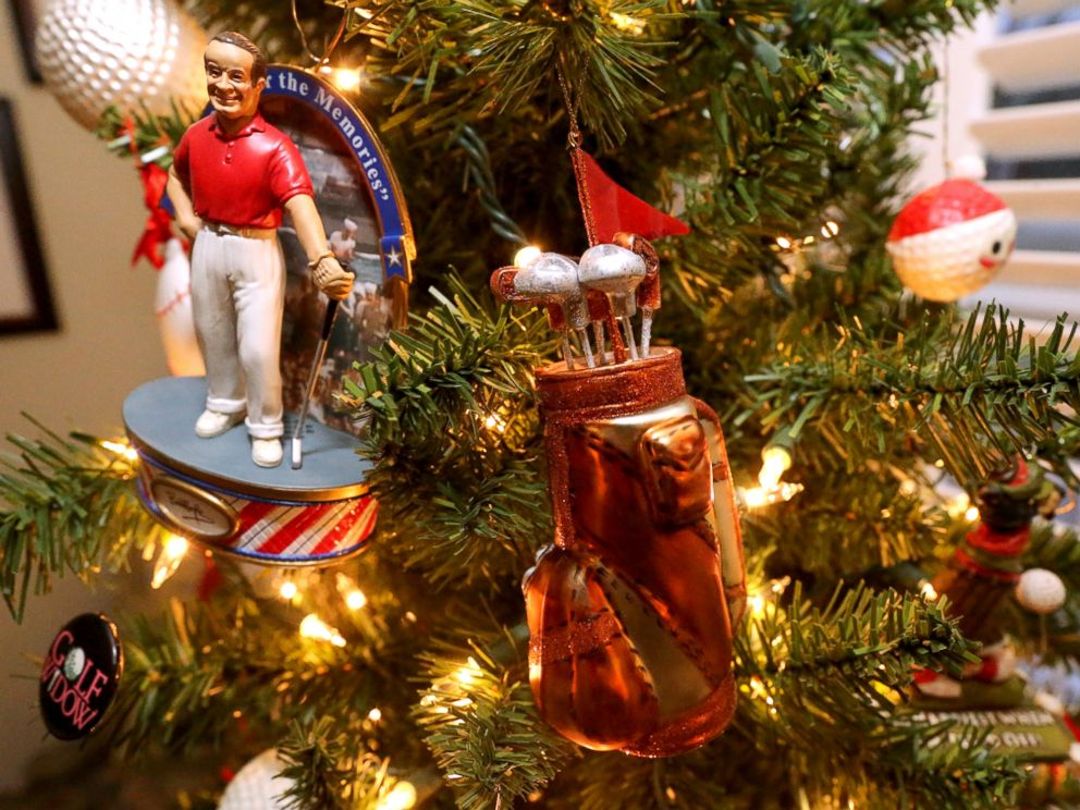PHOTO: They have a singing Bob Hope ornament on their Sports tree.