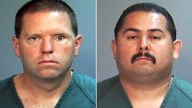 PHOTO:Officer Manuel Ramos and Cpl. Jay Cicinelli mugshots