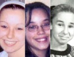 "PHOTO: Undated handout photos provided by the FBI show Amanda Berry, left, and Georgina ""Gina"" Dejesus, center. Michelle Knights 1998 freshman year high school picture, right, at James Ford Rhodes High School in Cleveland, Ohio."