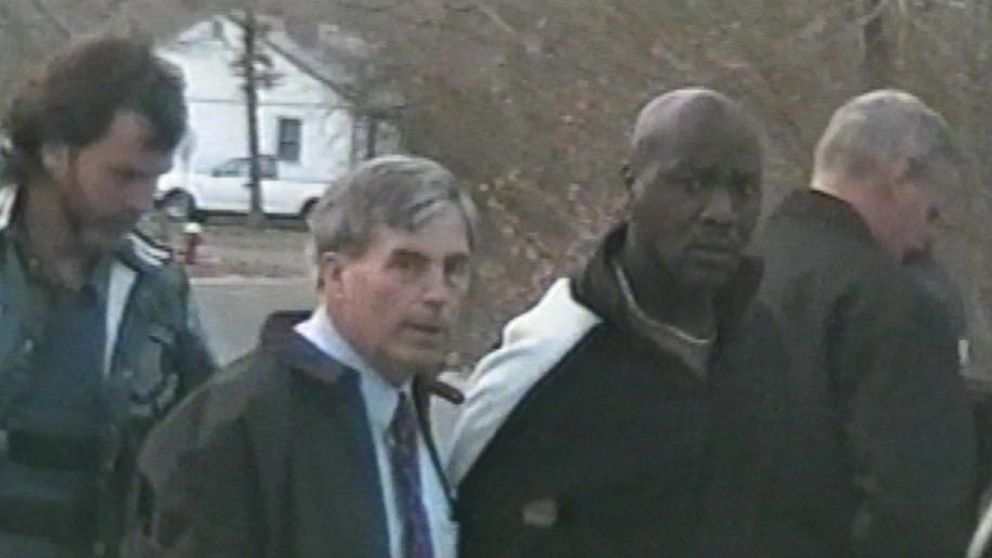 Police video footage showing Christopher McCowen being arrested for the murder of Christa Worthington in April 2005.