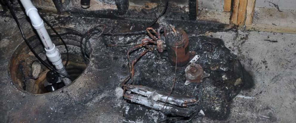 PHOTO: Photo provided by the U.S. Consumer Product Safety Commission shows what the CPSC said was the aftermath of a dehumidifier fire.