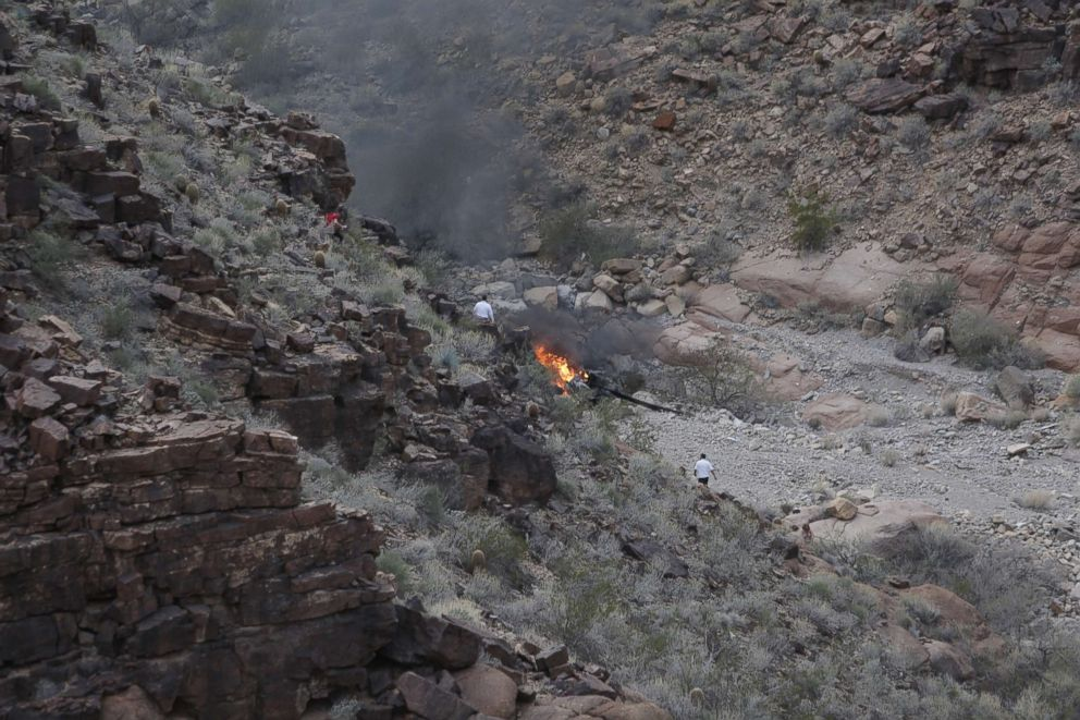 PHOTO: The scene where a helicopter crashed in Grand Canyon National Park on Feb. 10, 2018.