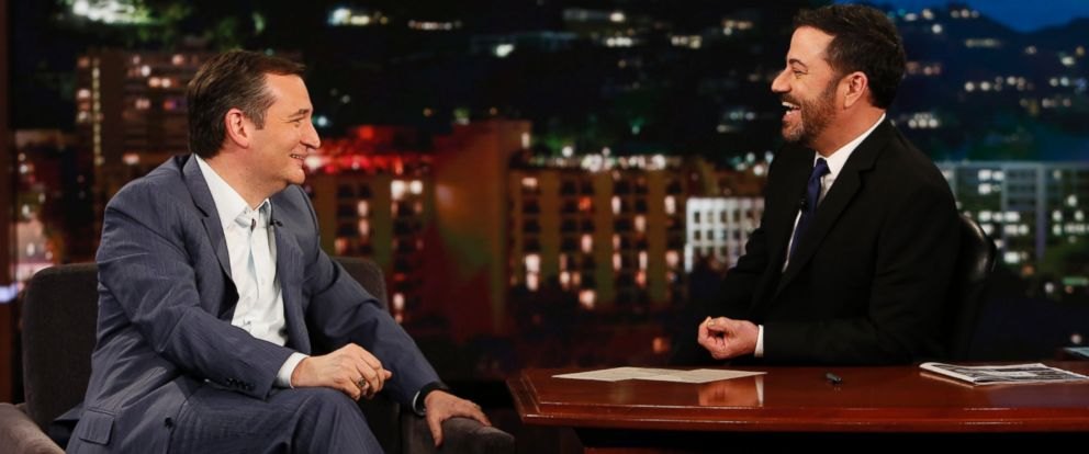 """PHOTO: Ted Cruz on """"Jimmy Kimmel Live!"""" on March 30, 2016."""