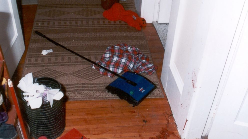 Crime scene photo from inside Christa Worthington's home.