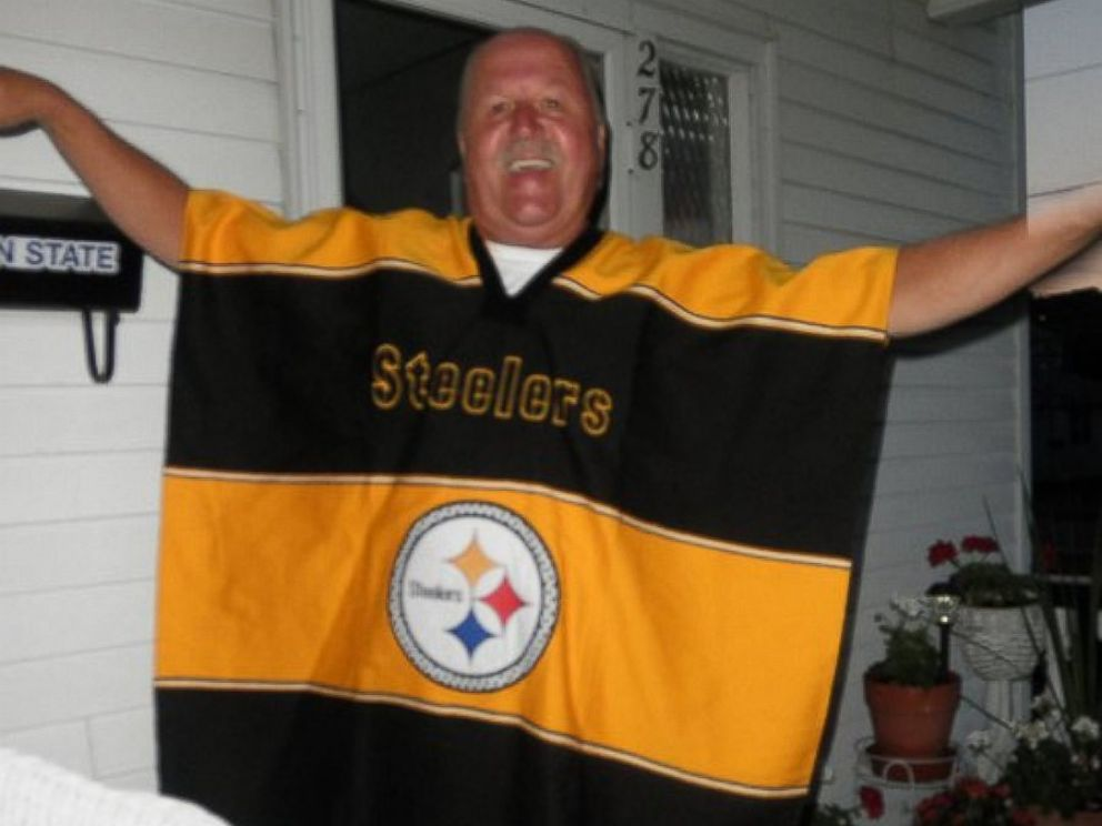 PHOTO: Summer Bukeavich posted this image of her father on Reddit in a touching tribute with the caption, He like the Steelers, I think.