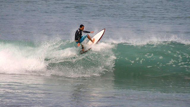 PHOTO:32-year-old Daniel Bobis, went missing in Indonesia after wiping out surfing a 10 foot wave.