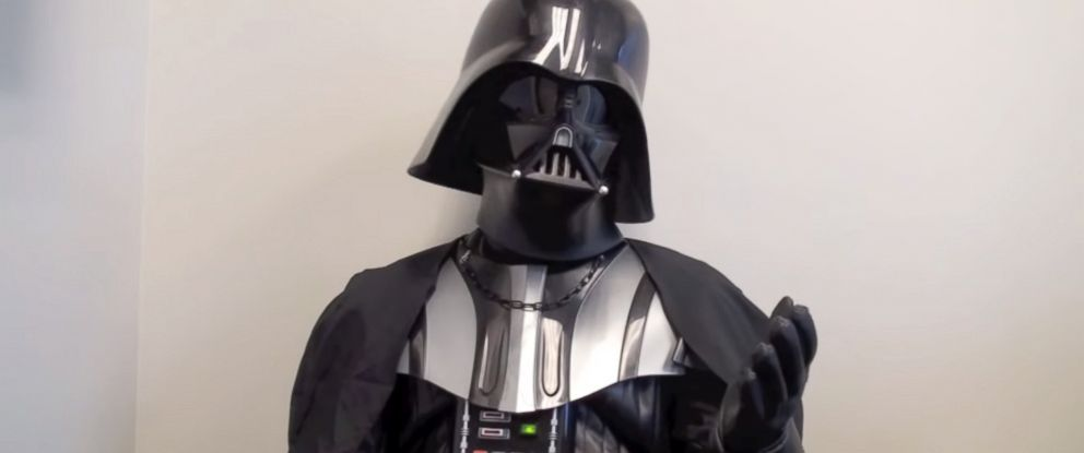 """PHOTO: """"Star Wars"""" villain Darth Vader is featured in a recruitment video released by the Fort Worth Police Department, Dec. 3, 2015."""