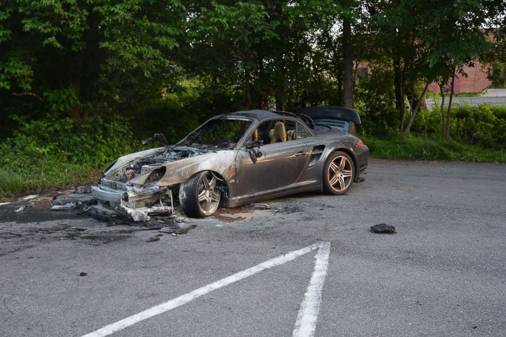 Amy Savopoulos' Porsche was found burning in a church parking lot in neighboring Prince Georges County, Maryland, on the afternoon of the murders.