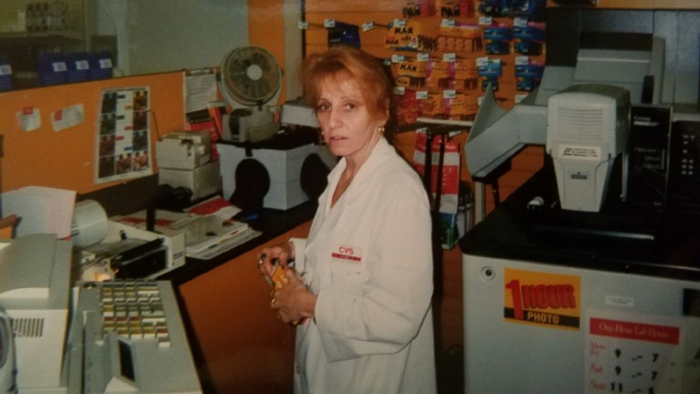 Deborah Garza is seen here working at a CVS in New York.