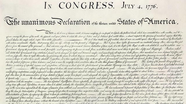 a story about the interview and the declaration of independence The declaration of independence is arguably the most important document in us history it was also briefly in violation of facebook's standards through its facebook page, the vindicator — a.
