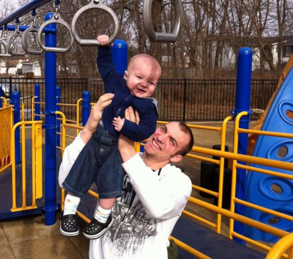 PHOTO: Corey Mantia and his son Parker are seen here in this undated file photo.