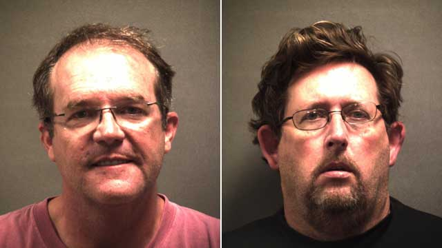 PHOTO: Dr. Thomas Michael Dixon, 48, and David Neal Shepard, 51, were arrested on July 16, 2012 in Texas for the murder of Dr. Joseph Sonnier.