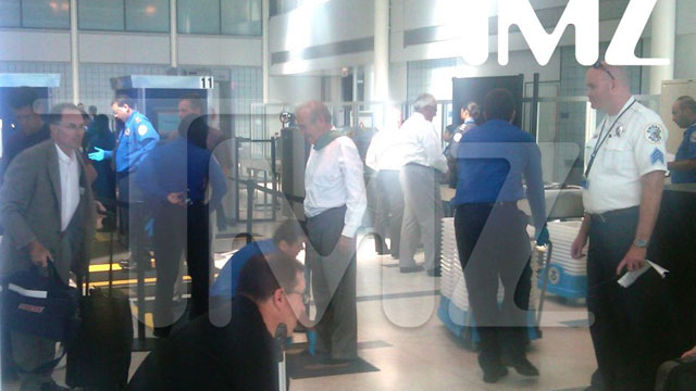 PHOTO:Donald Rumsfeld was stopped by airport security Wednesday as part of a normal security precaution.