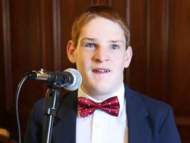 PHOTO: Christopher Duffley performing the Star-Spangled Banner at the New Hampshire Governors Commission on Disability. Concord, NH. July 27, 2016.