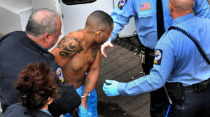 PHOTO This picture provided by the New Haven Register shows Aaron Thomas, the 39-year-old unemployed truck driver was arrested march 4, 2011 in connection with sexual assaults in at least four states over 12 year.