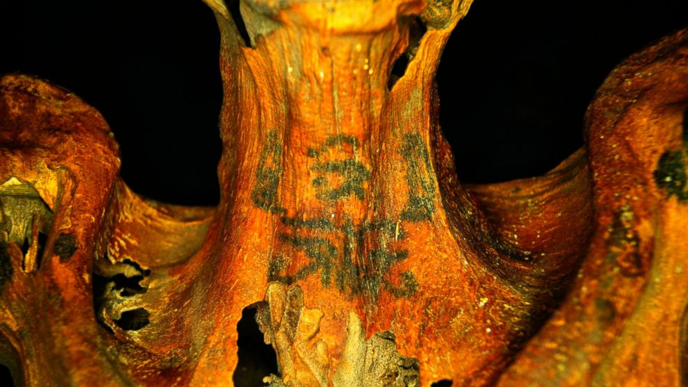 Stanford University archaeologist Anne Austin found intricately designed tattoos on the body of a 3,000-year-old woman from Ancient Egypt.