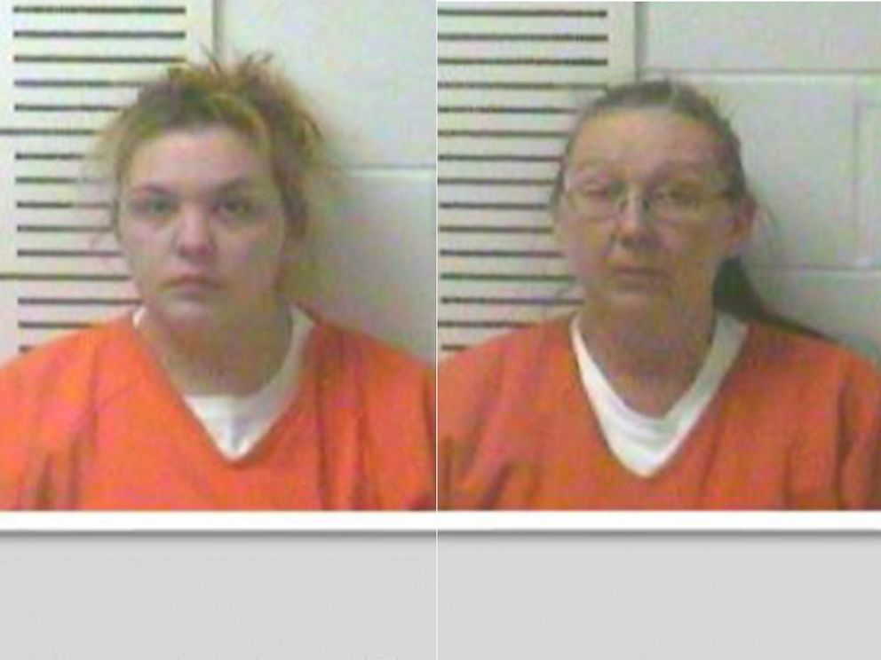 PHOTO: The boys mother Elizabeth Hupp, left, and grandmother Rose Brewer, right, were in on the plot. <p itemprop=