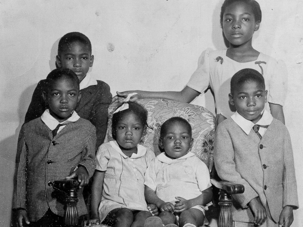 "PHOTO: Charlesetta Taylor is pictured here at age 9 in the upper right corner with her with her siblings just before they moved into ""The Big House."""