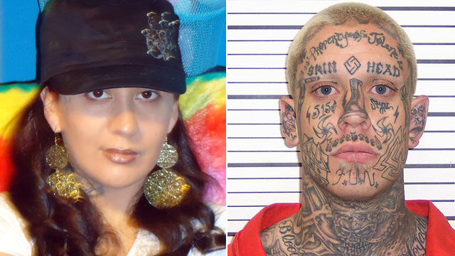 PHOTO:Erika Herrera, a woman of mixed descent, said that she is set to marry her soul-mate: accused murder and former White Supremacist inmate, Curtis Allgier.