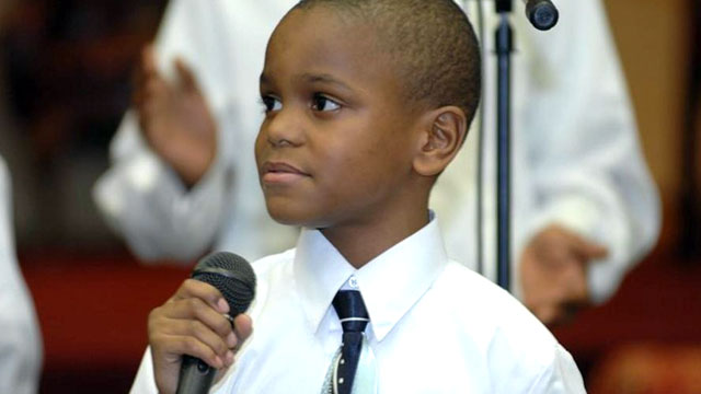 PHOTO: Ezekiel Stoddard, 11, was ordained last month and currently minsters in churches across Maryland, including his parents church.