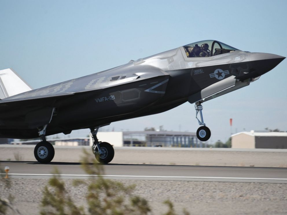 PHOTO: A U.S. Marine Corps F-35B comes in for a landing on Marine Corps Air Station Yuma, Ariz., Nov. 16, 2012.