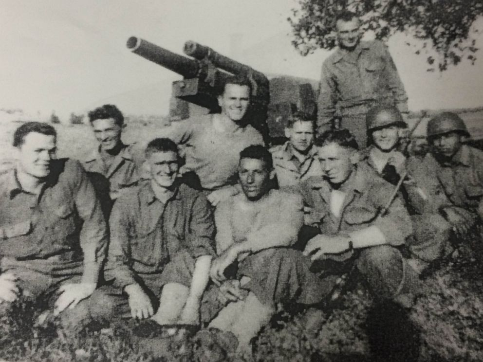 PHOTO: U.S. Army veteran Eligio Ramos is pictured here with his platoon during World War II.