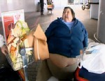 PHOTO: Vilma Soltesz, 56, from New York, who weighed 425 pounds, was disallowed to fly on three separate flights.