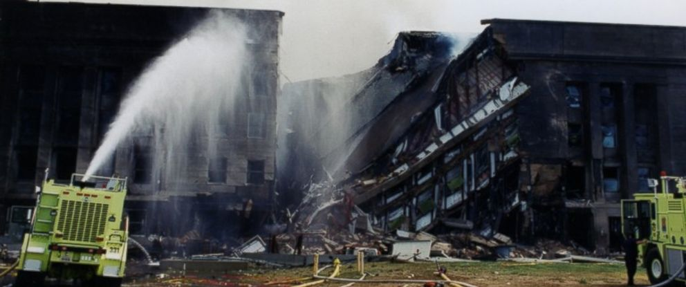 PHOTO: The Pentagon following the Sept. 11, 2001 terror attack.