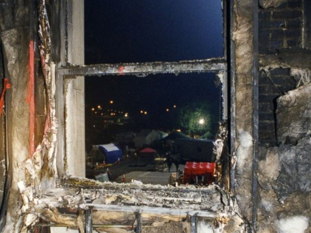 PHOTO: The scorched interior of the Pentagon in the wake of the Sept. 11, 2001 terror attack.