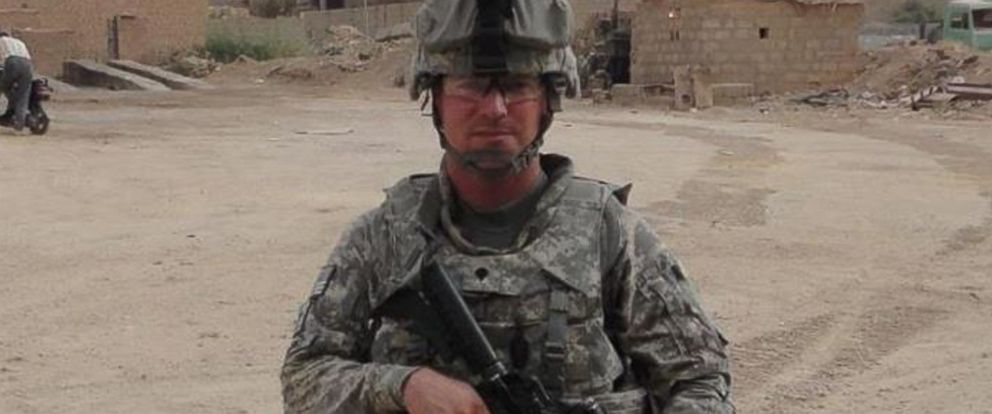 """PHOTO: Ivan Lopez shown here in full combat gear. The Army specialist posted this image on his Facebook profile and mentions in Spanish """"memories of Fallujah 2011."""""""